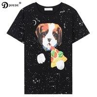 2018 New Summer Top Tees Runway Brand Harajuku Women S Shirt Short Sleeve Cartoon Dog Galaxy