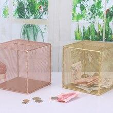 Креативный стиль копилки искусство свежая металлическая банка Спальня украшение стола детская кассовая коробка сейф копилка LFB658