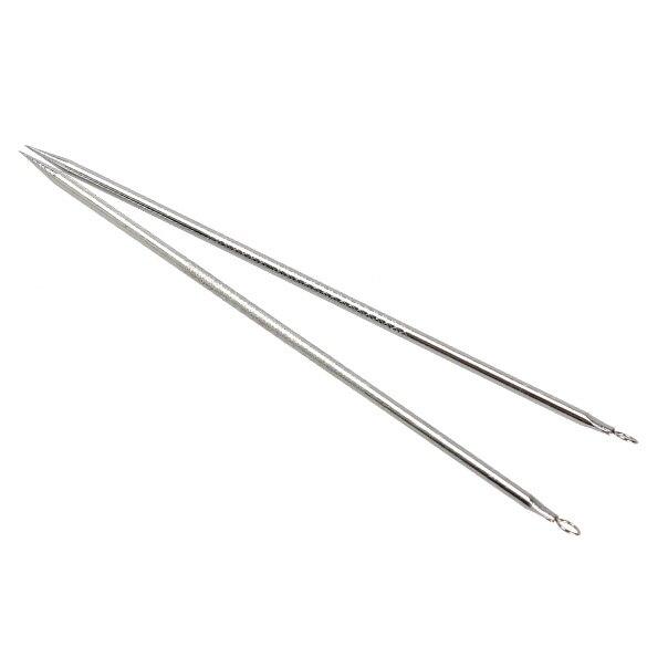 Серебро новый 2шт угорь комедон средство для удаления прыщей пятен прыщ экстрактор инструмент SSwell