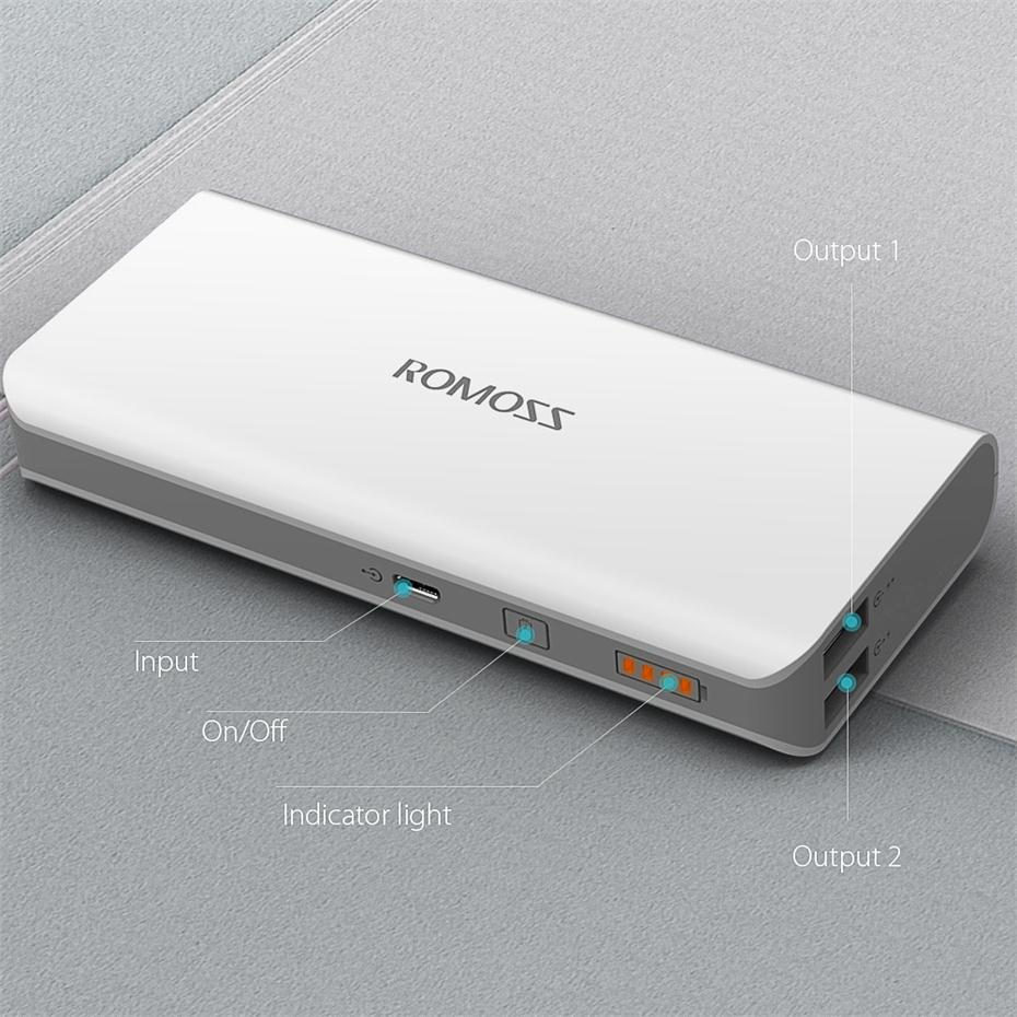 10000 мАч Romoss Solo 5 солнечное зарядное устройство двойной выход внешний аккумулятор компактный тонкий портативный зарядное устройство для телефона планшета