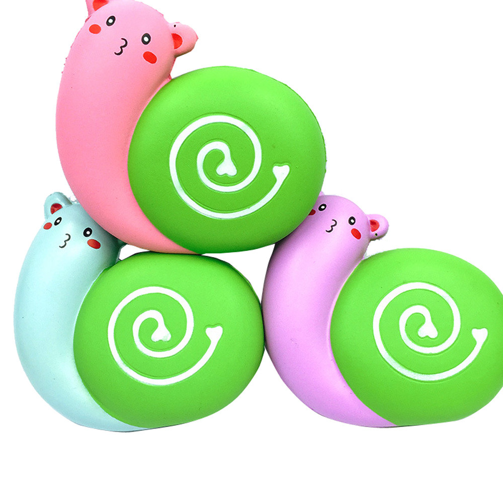 Creative Kids Toys 12cm Squishy Jumbo Cute Love Snail Slow Rising Cream Squeeze Scented Cure Stress Relief Toy Gift   6.10