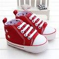 0-18Month Lona Estrela Sapatos de Bebê Meninos Sapatilhas Infantis Sola Macia Sapatos Tênis Meninas Dos Meninos Recém-nascidos Primeiros Caminhantes Chaussure Garcon