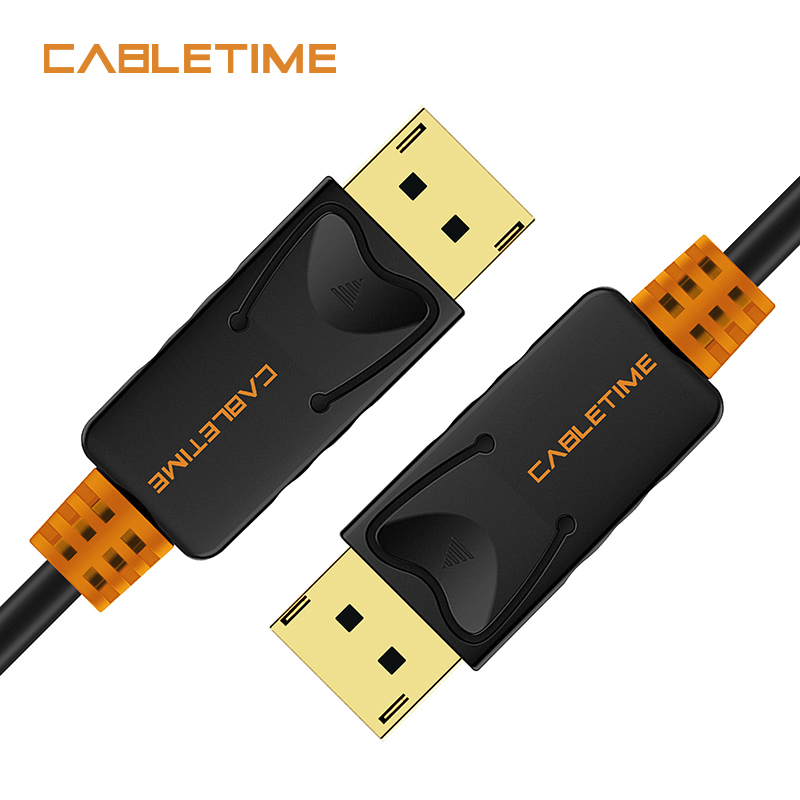 Cabletime DisplayPort Cable macho a DP 4 K 60Hz DP 1,2 Cable 2 m 3 M DP Vedio Audio display port Cable para HDTV proyector PC N079