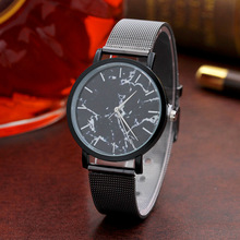 купить Relojes Mujer Montre Homme 2018 New Creative Marble Wrist Watch Stainless Steel Band Quartz Watch Dress Women's watches Hot Sale по цене 93.89 рублей