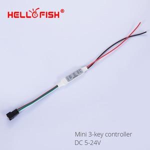 Image 2 - WS2811 WS2812B UCS1903 كامل اللون وحدة تحكم في البكسل LED قطاع ضوء RF اللاسلكية عن بعد IR تيار مستمر وحدة تحكم USB