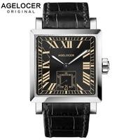 2019 AGELCOER бренд Швейцарский Женева мужские наручные часы автоматический деловые часы водостойкий Дата календари с корпус часов
