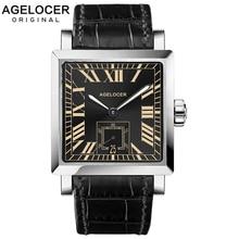 2016 AGELCOER Brand Swiss Geneva watch Men Wristwatch Automatic Mechanical Watches water resistant Date Calendar with watch case