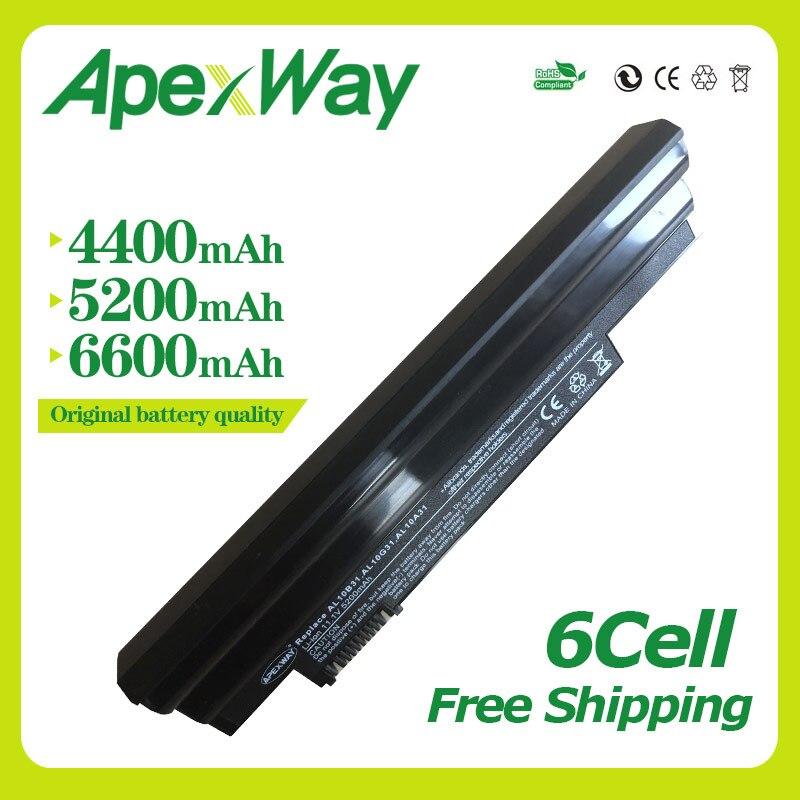 Apexway שחור 111 v מחשב נייד סוללה עבור Acer Aspire AL10A31 AL10B31 AL10G31 אחד 522 D255 722 D257 D255E D260 D270 AOD255 AOD260