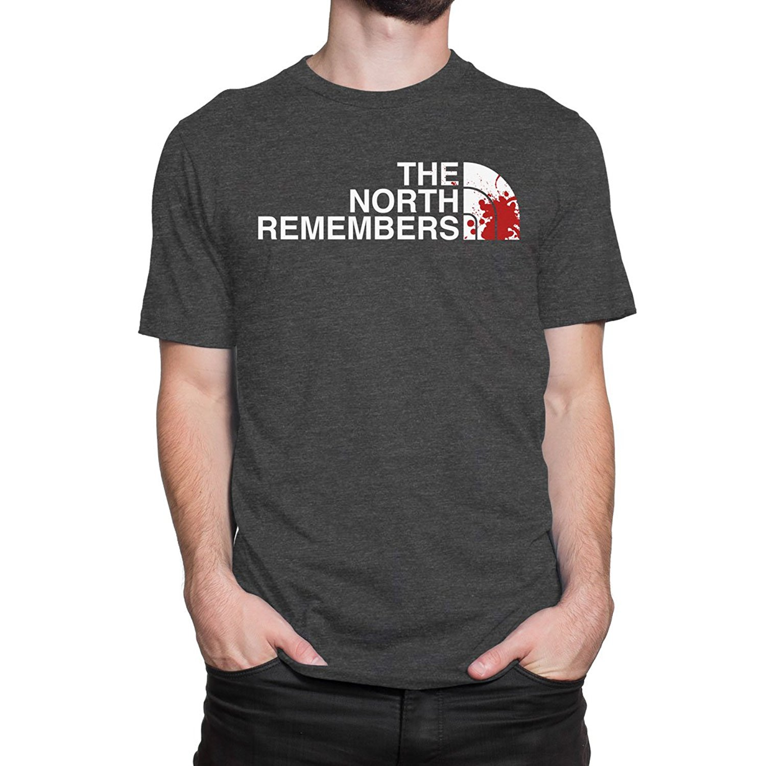 Gildan THE NORTH REMEMBERS Men PRINT HAUS T-shirt