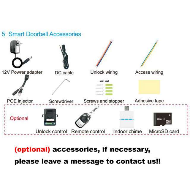 Online Shop Wifi Video Door Phone Bell Wireless Intercom Support SD