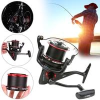 Hot Sale Fishing Reel 8000/9000 Series Spinning Fishing Reel 12+1BB Spool Lure Rock Pescaria Rear Distant Wheel New