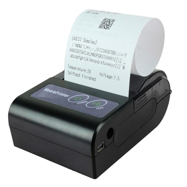 Marca de Fábrica Original de 90mm/seg 203*203 DPI 58HB-2 Impresora Térmica de Recibos Portátil Mini Bluetooth Inalámbrico Para Android/Windows
