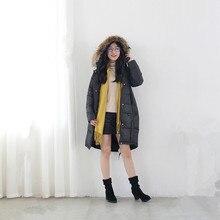 Женская Утолщенной Стеганые Парки Пальто Новый Плюс Размер Молния Съемная Искусственного Меха Подстриженные Капюшоном С Длинным Зима Скалозуб Пальто