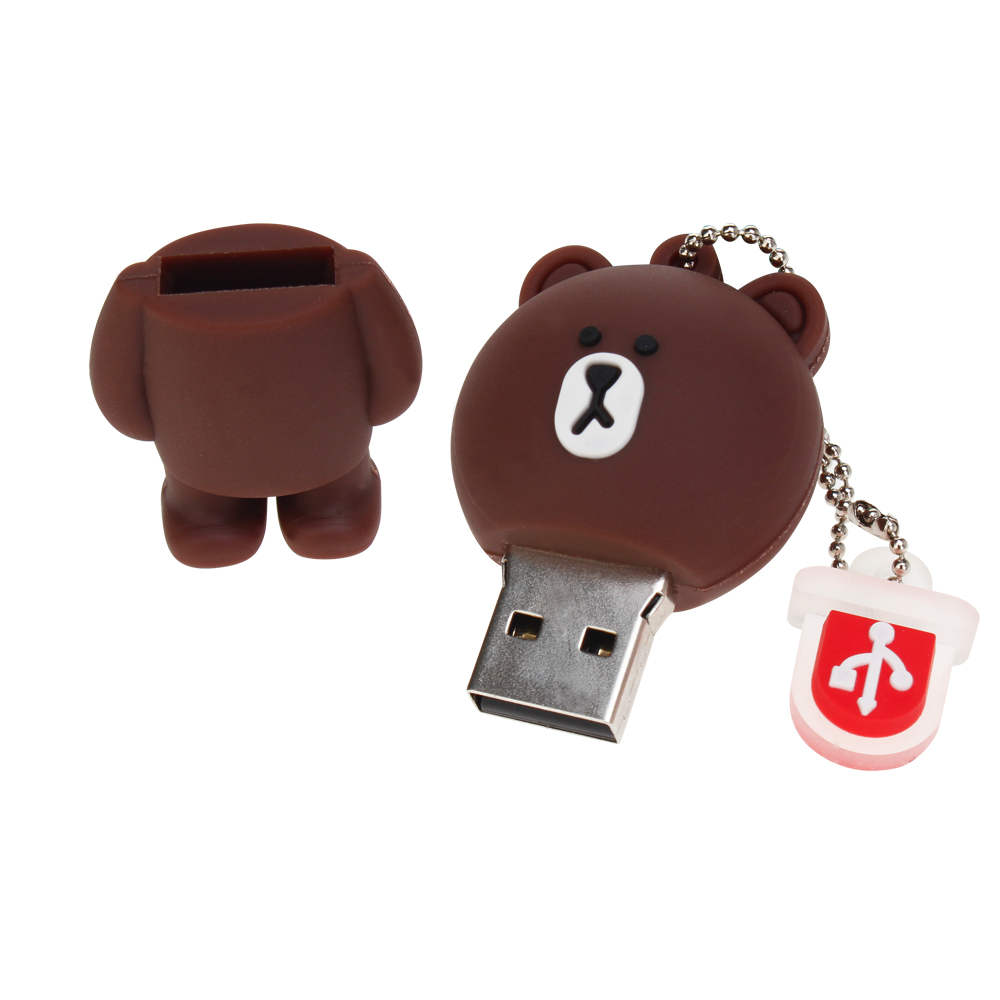 New Rilakkuma Bear pen drive 4GB 8GB 16GB 32GB 64GB 128GB usb flash drive pendrive Cartoon USB 2.0 Memory Stick Bear Brown Gifts (2)