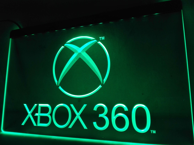 US $10 5 |LH003g XBox 360 LED Neon Light Signs-in Plaques & Signs from Home  & Garden on Aliexpress com | Alibaba Group
