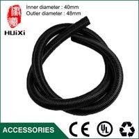 2 5m Inner Diameter 40mm Black Hose With High Temperature Flexible EVA Vacuum Cleaner Hose Of