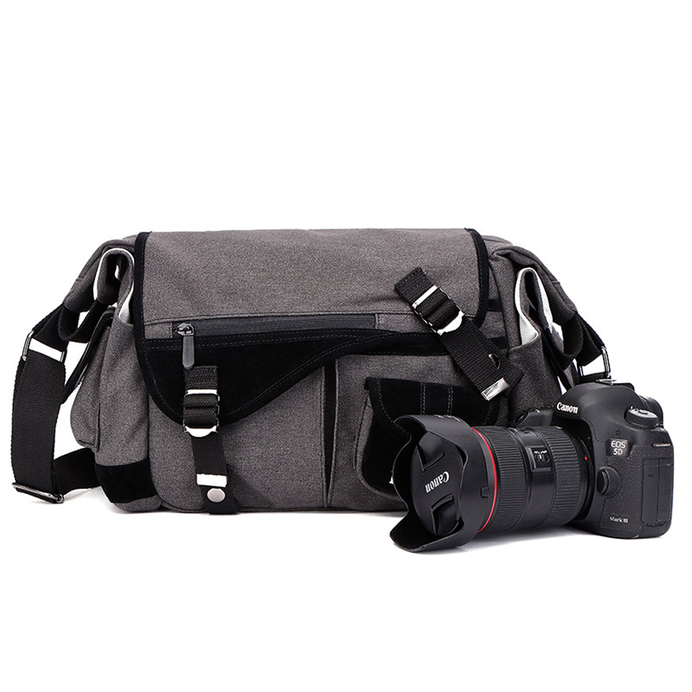DSLR Camera Case Bag w/ Zippered Pockets and Accessory Compartments for Canon EOS EOS 70D 60D 7D 6D 5D 750D 700D 650D 600D 550D caenboo 6d 70d 60d camera bag soft silicone rubber protective camera body cover case skin for canon eos 6d camouflage black red