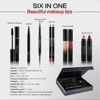 9 Pcs Makeup Set Matte Lipstick Lip Gloss Lipliner Set Sexy Pencil Red Long Lasting Makeup