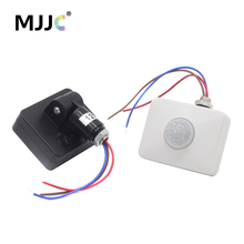 цена на 220V PIR Motion Sensor 12V Infrared Automatic Movement Detector AC 110V 220V Outdoor Timer DC 12 Volt Sensor Lamp Light Switch