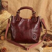 Новый высокое качество 100% для женщин Натуральная кожаные сумочки коровьей Композитный сумка мешок курьерские Сумки