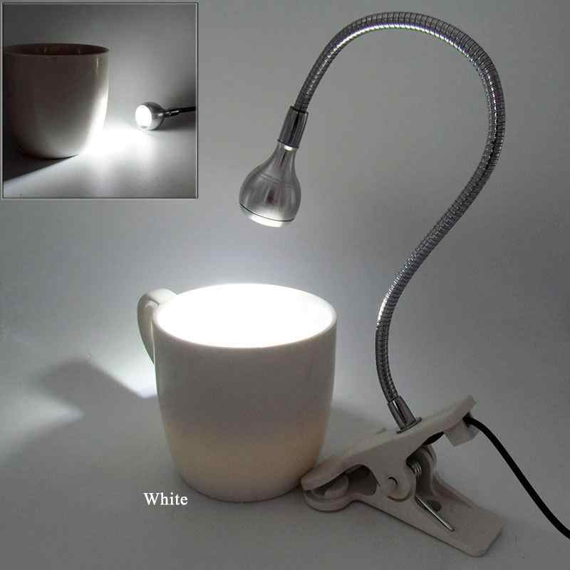 AKDSteel 5 В 3 Вт USB Светодиодная настольная с зажимом светильник с гибким гусиным горлом Милая кровать лампа украшение защита глаз