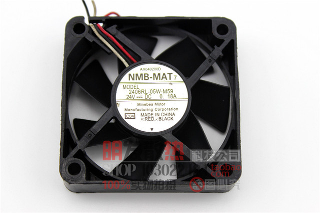 Bola duplo ventilador de fluxo axial 2406RL MAT7 originais-05 W-24 V-DC 0.18A M59