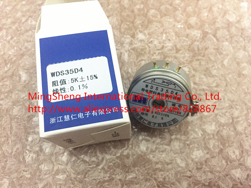 Original new 100% WDS35D4 WDD35D4 1K 2K 5K 10K 0.1% 0.5% linear conductive plastic angular displacement sensor (SWITCH) gtm 24