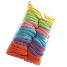 50pcs/set Hair Bands women lady Girls soft Elastic Hair Ties Band Rope candy color Ponytail Bracelet headband(China)