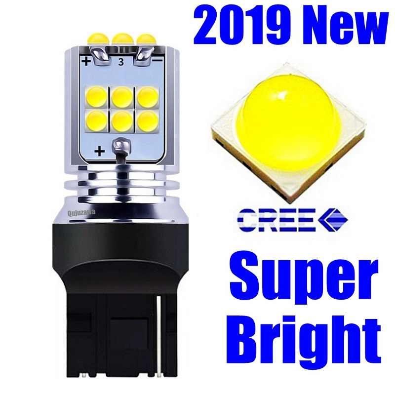 1Pcs NEW T20 7440 W21W WY21W Super Bright 1800Lm CREE Chips LED Auto Turn Signal Reverse Lamp Brake Bulb Daytime Running Lights