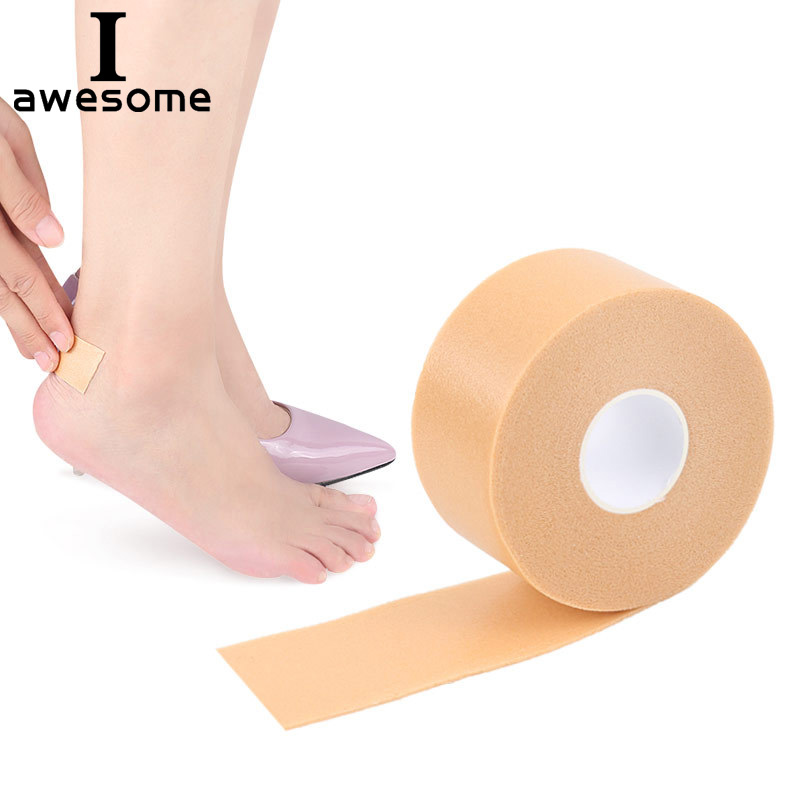 1 Roll Unisex Fashion  PU foam Rubber Heel Cushion protector Shoe Insert Pad Insole Best Gift for men and women