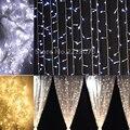 192 leds US110v EU220v Guirnaldas De Navidad LED Luces de la Secuencia de 144 led de Hadas de Navidad Fiesta de Jardín Decoración de La Boda comprar Cortina de Luz