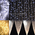 192leds US110v EU220v Christmas Garlands LED String Lights 144leds Fairy Xmas Party Garden Wedding Decoration buy Curtain Light