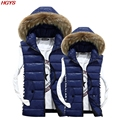 2017 heavy hair brought the young man down cotton hooded vest with thick coat