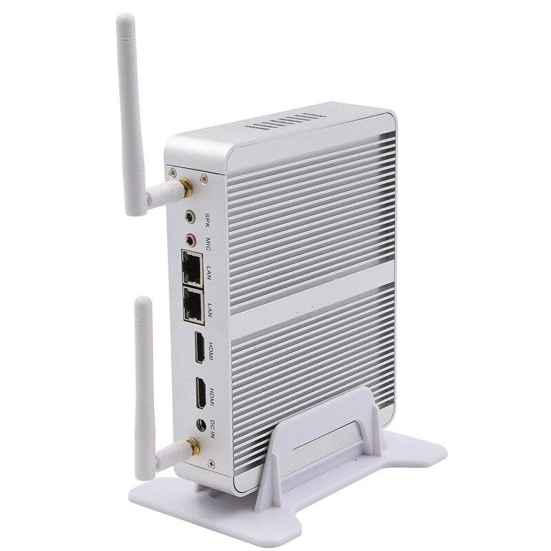 Intel Core i3 5005u 12V Fanless i3 Mini PC X86 Win10 Barebone mini Desktop Computers Linux Server WiFi VGA