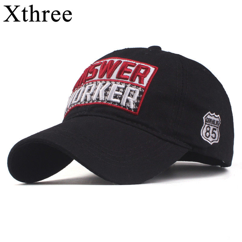 Xthree 2019 New Cotton Men's   Baseball     Cap   Snapback Hats casquette gorras Summer fishing Hat for Men Women   Caps   hats