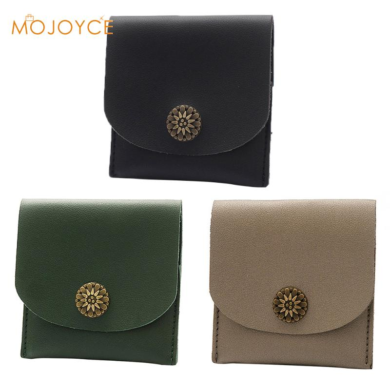 Women Short Wallet PU Leather Solid Simple Coin Purse Card Fresh Style Lady Girls Notecase Female Small Female Purse Short Purse