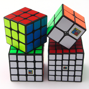 Image 5 - 4pcs סט עקוב מהירות צרור Moyu MofangJiaoshi 2x2 3x3 4x4 5x5 meilong Qiyi קסם קוביית אריזה צעצועים חינוכיים לילדים