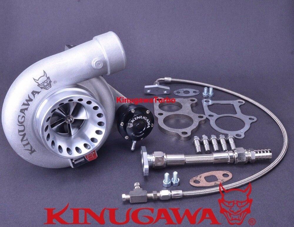 Kinugawa Billet Turbocharger 4 Anti-Surge TE06H-25G T67-25G 12cm T3 Flange Internal Gated