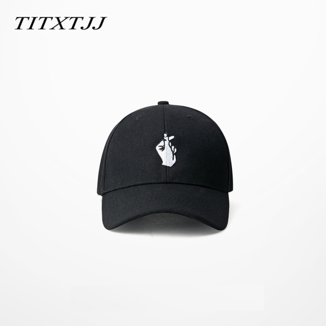 Korean I love you Gesture 6 panels Hat Hiphop Baseball cap Curved Brimmed Summer Headwear Street Fashion Sun Hats