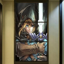 2018 New High Quality Canvas Print Painting 3 Panel/Set The Legend of Zelda Breath the Wild Picture Wall Art Home Decor Draw
