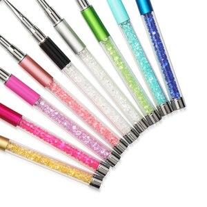 Image 5 - Pinceaux à cils de maquillage 10 couleurs pinceaux à poignée diamantée applicateur de Mascara brosses à baguette pinceau à cils strass outil de maquillage