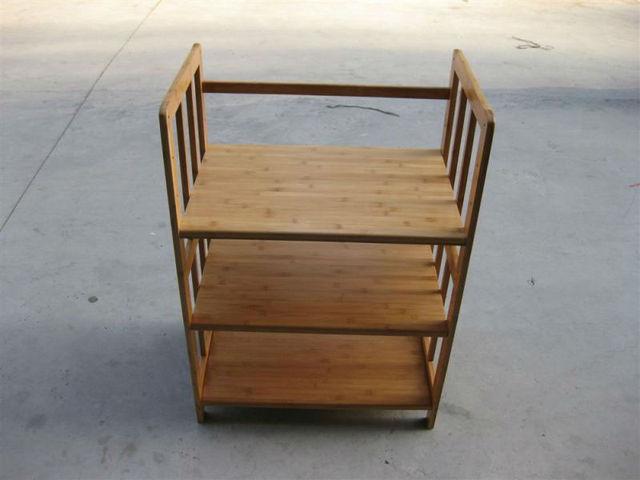 The new bamboo microwave rack to Shelves the IKEA bulkhead frame ...