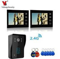Freeshipping Smart 7 Touch Wireless Video Door Phone Intercom Doorbell Home Security One Camera Doorbell Intercom
