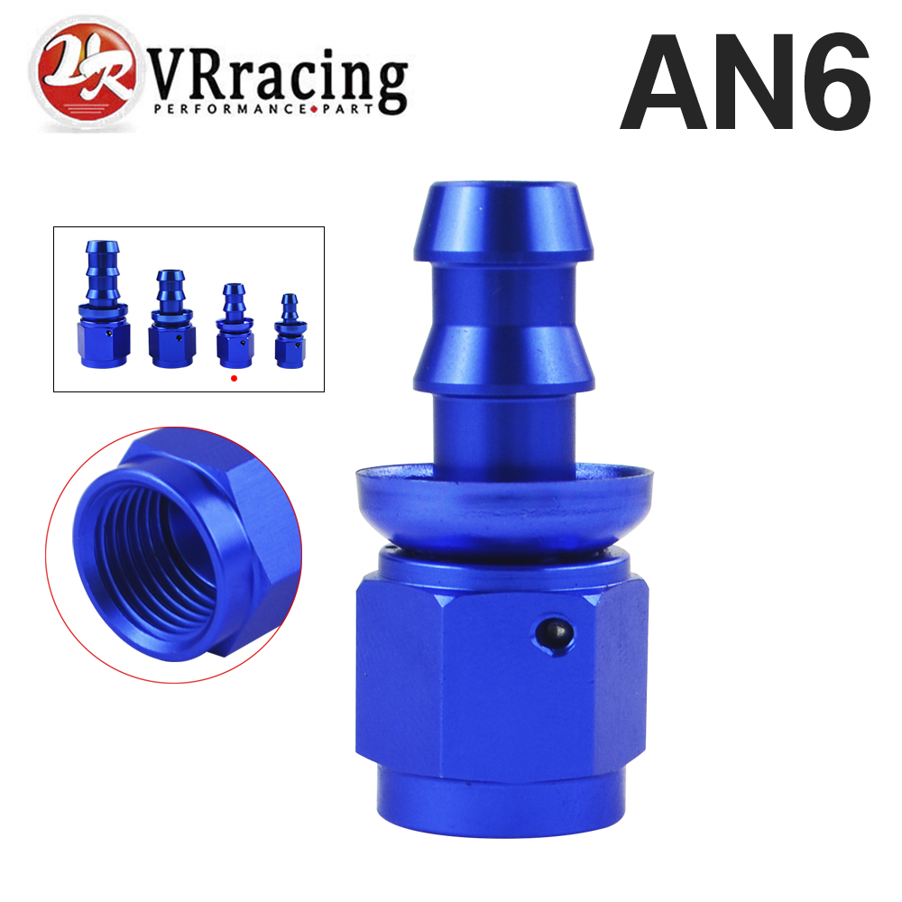 An6 6an An-6 An Cheap Price Vr Racing 6 Straight Blue Push On Lock Socketless Hose End Fitting Adapter Vr-sl2000-06-011 Customers First