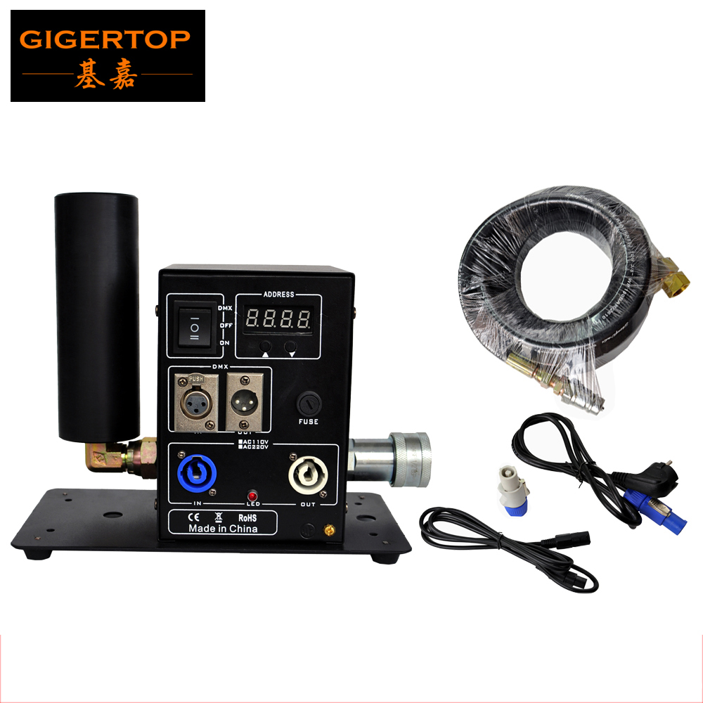 China TIPTOP Stage Lights One Head Cryo Jet Kit 6 meter Gas Hose DMX 3pin XLR
