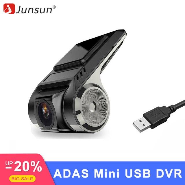 Junsun S500 ADAS мини Видеорегистраторы для автомобилей Камера Full HD LDWS Авто Цифровой Видео Регистраторы регистраторы для Android мультимедийный плеер