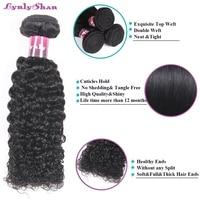 Kinky Curly Hair Bundles 100% Remy Human Hair Extension Brazilian Hair Weaves Bundle 1PC Free Shipping Hot Sale Lynlyshan Hair