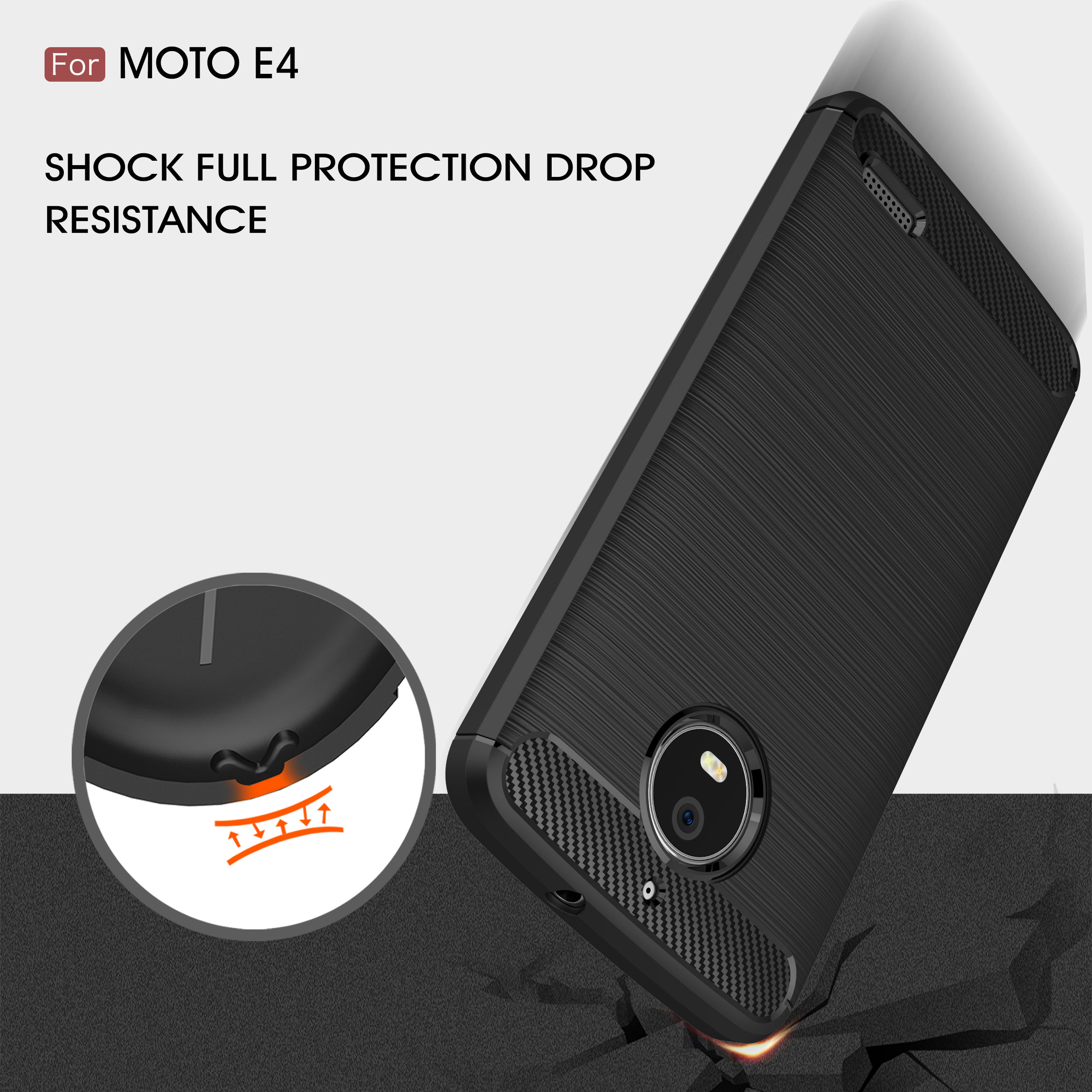 TPU Case for Motorola Moto E4 E 4 4th Gen XT1769 XT1760 Carb