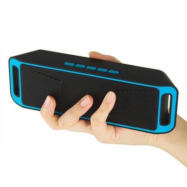 Hot SC208 Subwoofer Falante Sem Fio Bluetooth 4.0 Estéreo TF USB Rádio FM Microfone Embutido Dual Baixo Caixa de Som Caixa De Som