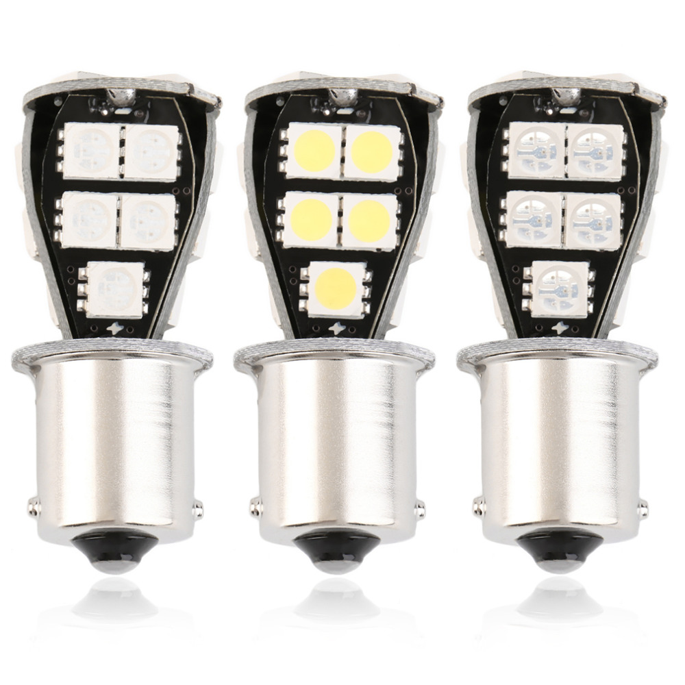 High Quality Car LED Light Yellow/Red/White 1156 BA15S 18 SMD 5050 CANBUS OBC No Error carprie super drop ship new 2 x canbus error free white t10 5 smd 5050 w5w 194 16 interior led bulbs mar713